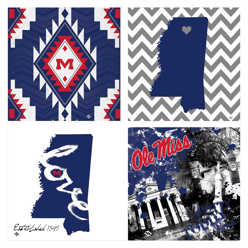 NCAA Spirit Coaster 4pk - Ole Miss Rebels
