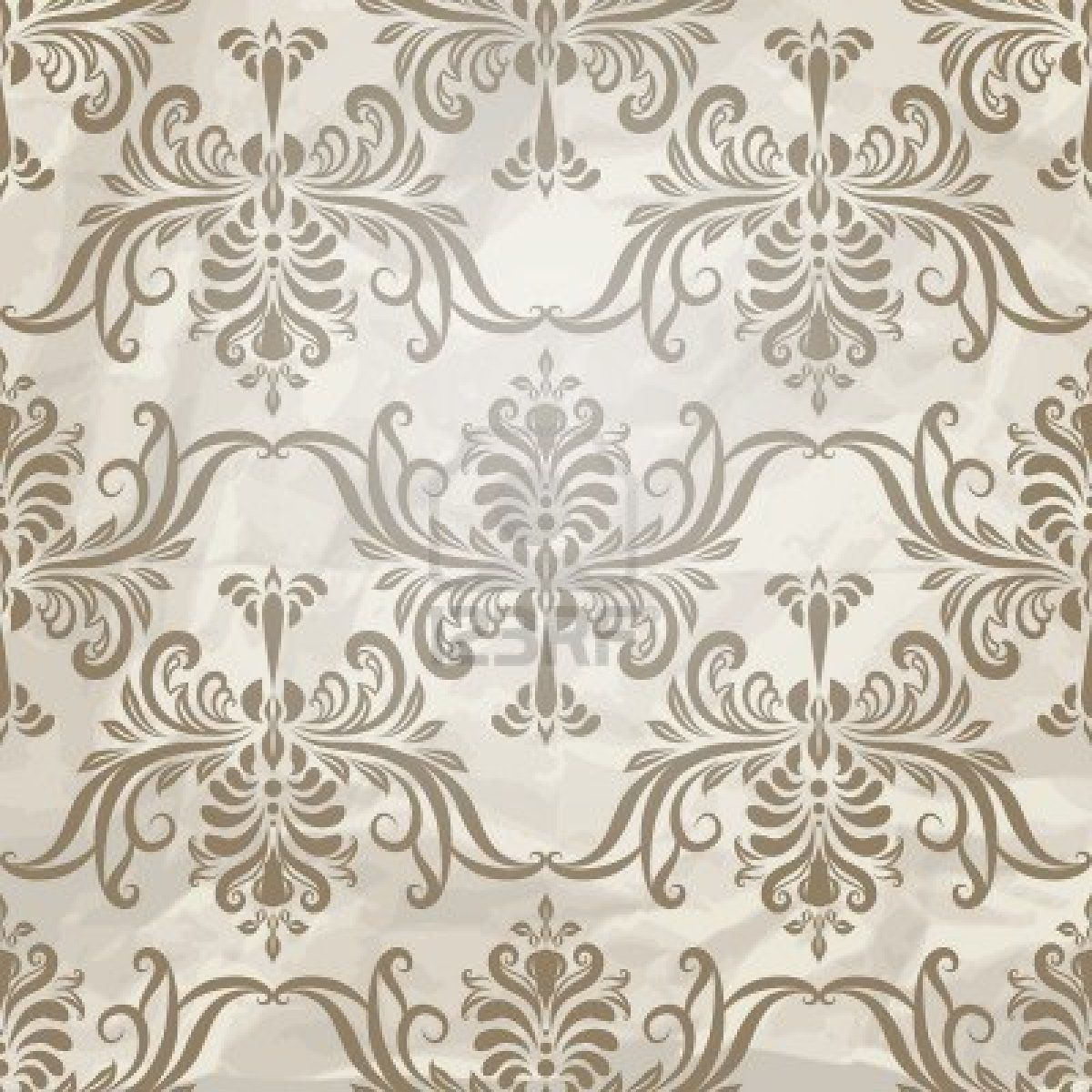 Wall Paper Patterns vector seamless vintage wallpaper pattern on crumpled paper