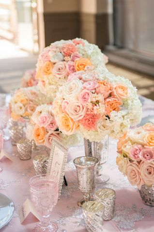 Blush And Peach Prettiness With Paper Flowers
