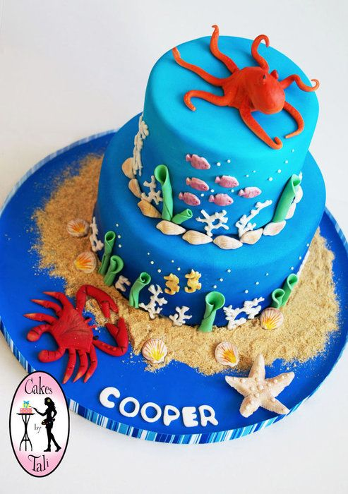 Ocean Theme Birthday Cake