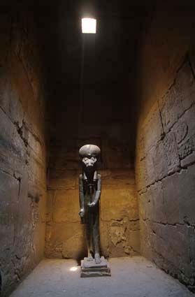 The fourth of the Egyptian goddess Sekhmet in the temple ...