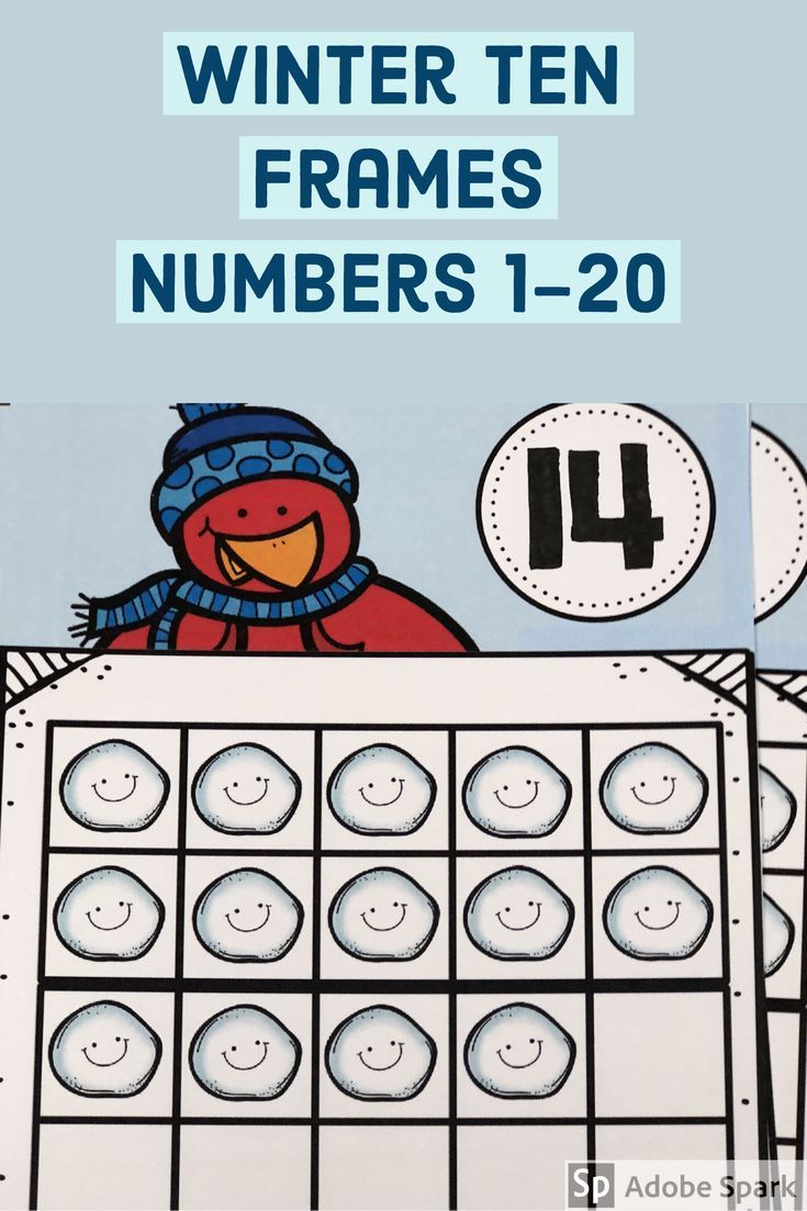 Winter Ten Frames | Ten frames, Maths and Kindergarten math