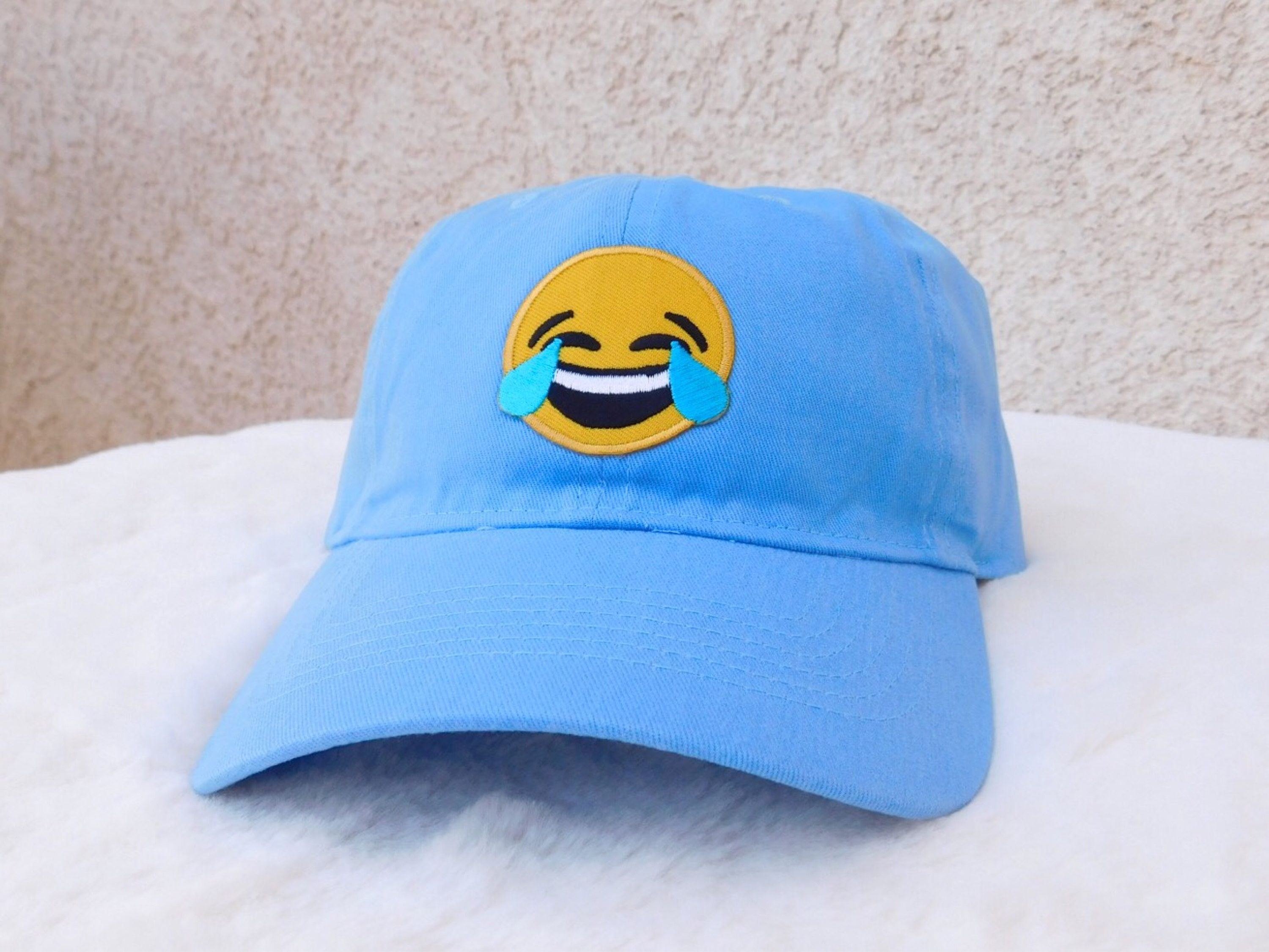 I Can T Help But Laugh Along With This Emoji It Just Makes Me So Happy Baseball Hats Cool Emoji Dad Hats