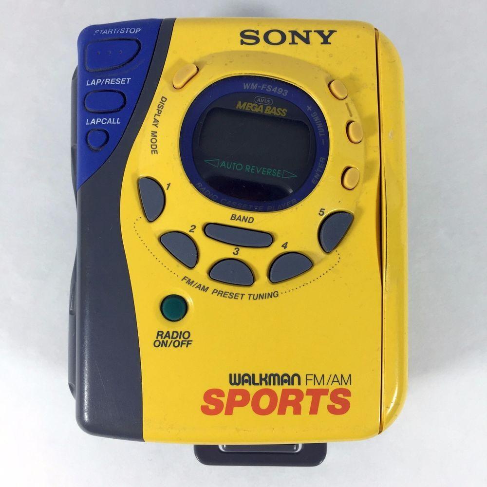 Sony Walkman Fm Am Sports Vintage Radio Wm Fs493 Cassette