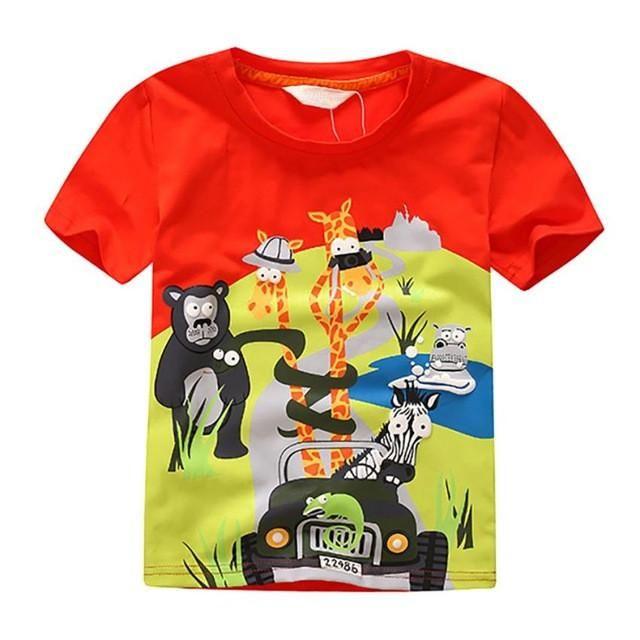 Leopard Prints in Kids Print Graphic Tee Short Sleeve T-Shirt