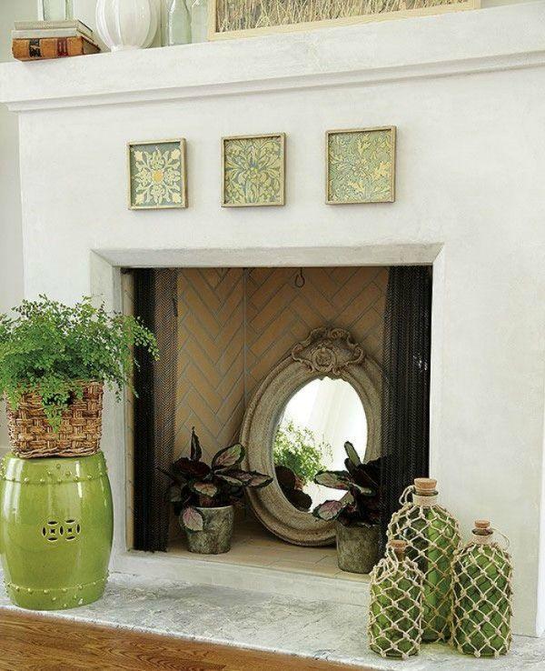 Decorate Inside Fireplace - Interior design ideas