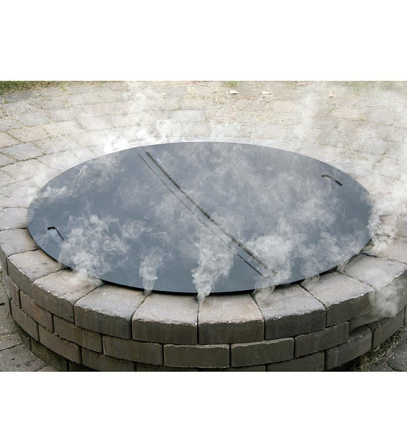 wire mesh lids cover for firepits | Home : Heavy-Duty Steel Round ...
