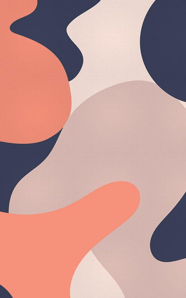 Best Orange Blue Camo Wallpaper Abstract Design 400 x 300