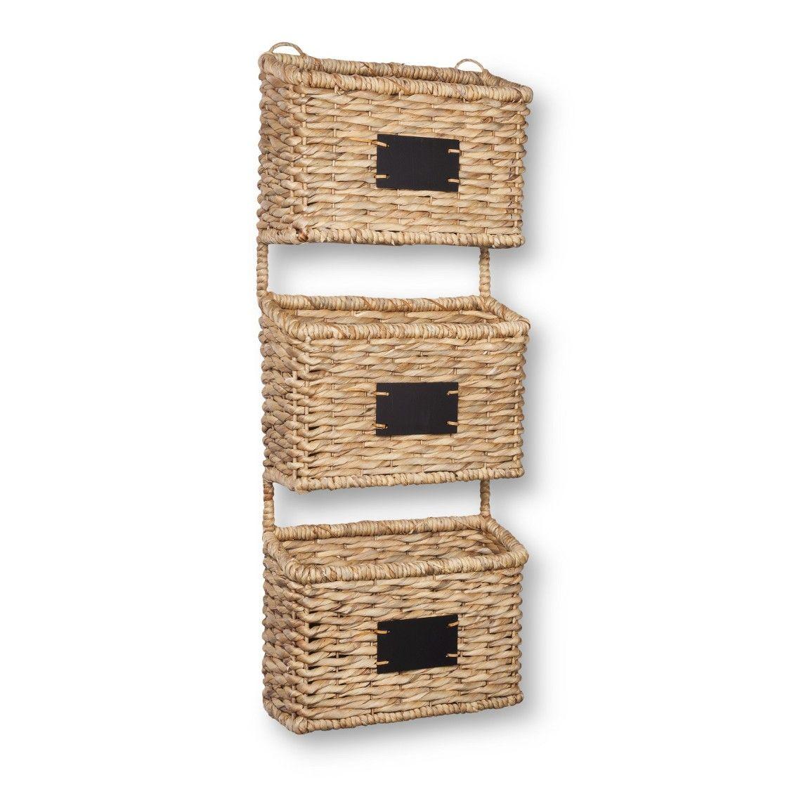 Three basket wall organizer | Home - Organization | Pinterest ...