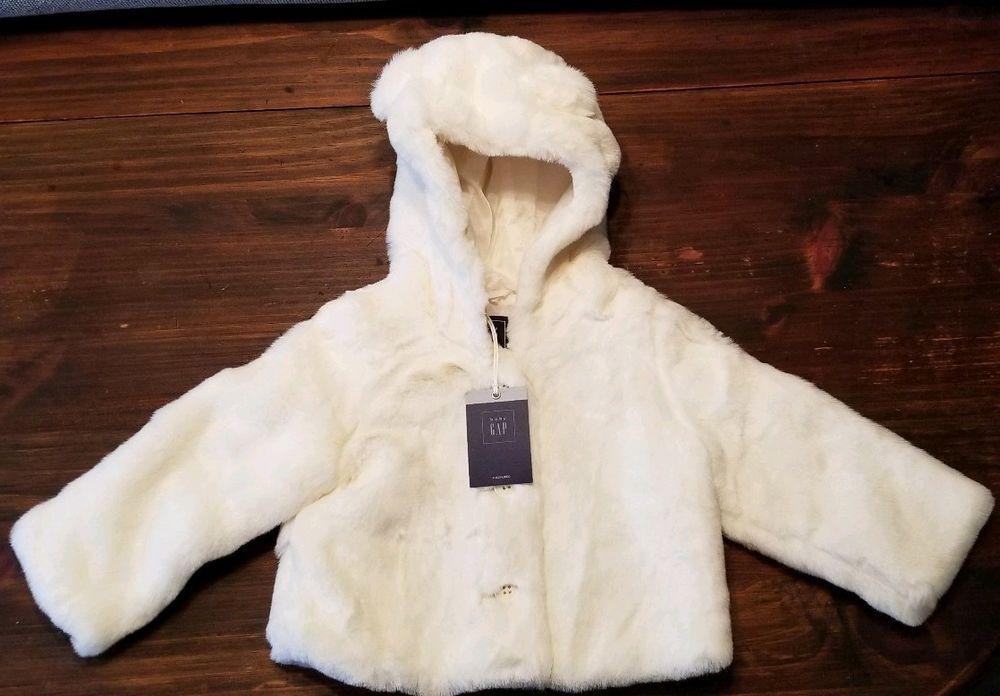 f2d248a79f31 Baby Gap Girls Ivory Faux Fur Teddy Bear Coat 18 - 24 Months NWT ...