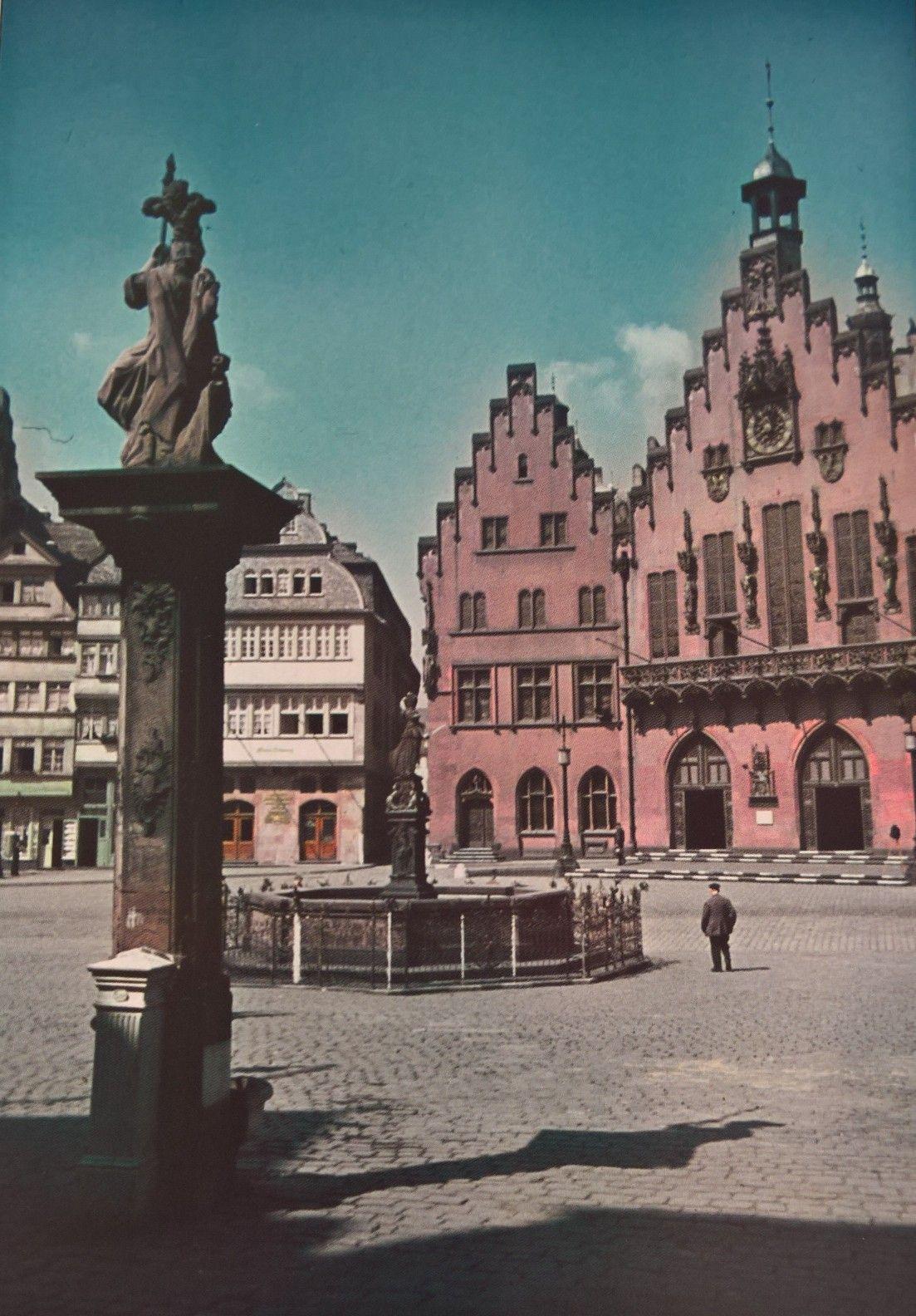 Frankfurt Am Main pre war market square, 1940.   Frankfurt