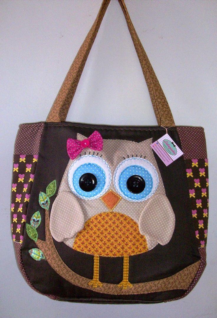 Bolsa De Tecido Decorada Com Coruja : Resultado de imagem para bolsas artesanato