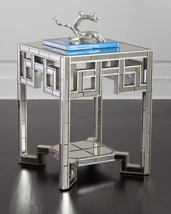 Lattice Mirrored End Table By Regina Andrew Design At Horchow.