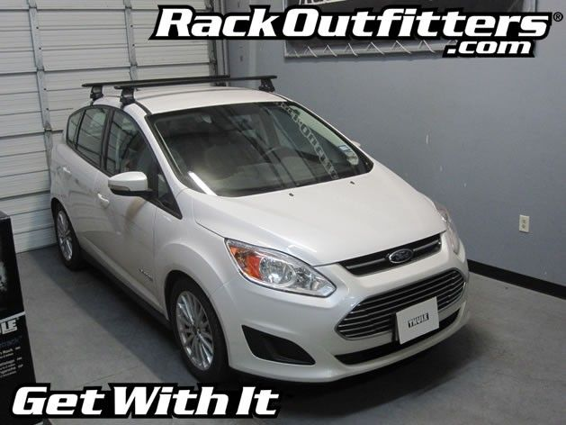 Ford C Max Hybrid Thule Rapid Traverse Black Aeroblade Roof Rack