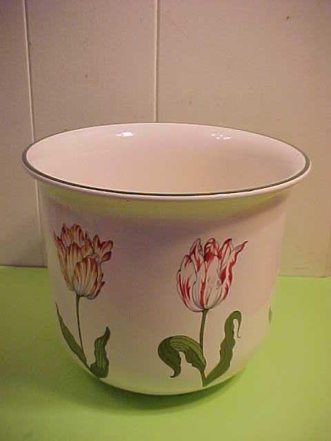 Tiffany Co Tiffany Tulips Ceramic Flower Pot Planter Bowl Vase