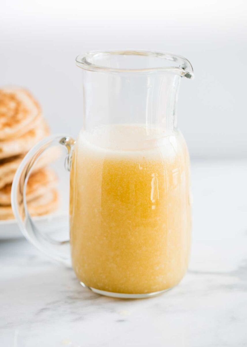 Easy Buttermilk Syrup 10 Minutes I Heart Naptime Recipe In 2020 Buttermilk Syrup Syrup Recipe Coconut Smoothie Recipe