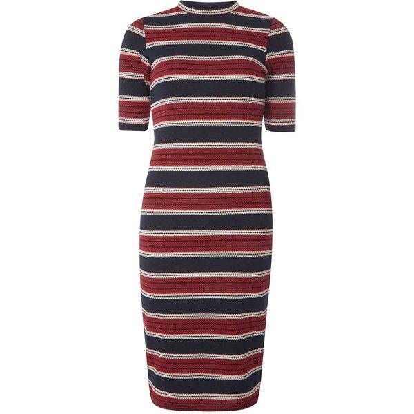 Dorothy Perkins Stripe Bodycon Dress ($45) found on Polyvore