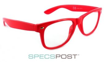 OMG Red Retro Ray Ban Style Glasses  - OMG