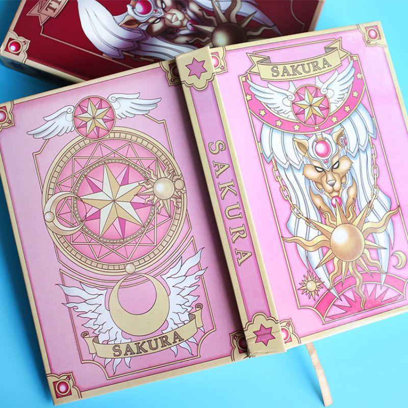 Card Captor Sakura Transparent Pink Clear Cards  Magic Book Collection Toy Gift