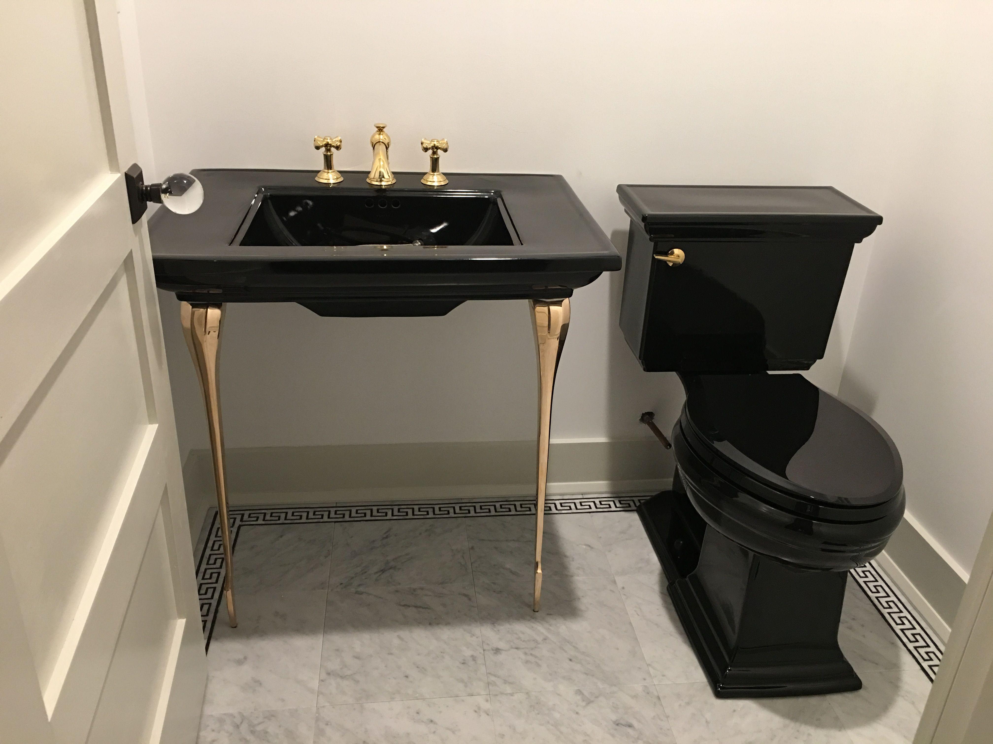Kohler memoirs sink and two piece toilet original s art deco