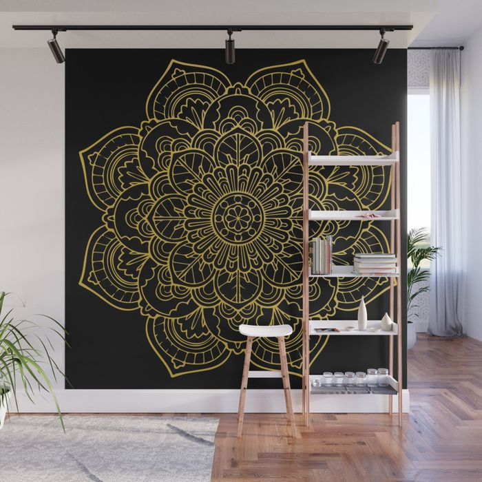 Buy Golden Yellow Mandala Wall Mural By Allisone Worldwide Shipping Available At Society6 Just One Of Millions High Quality Products Avail