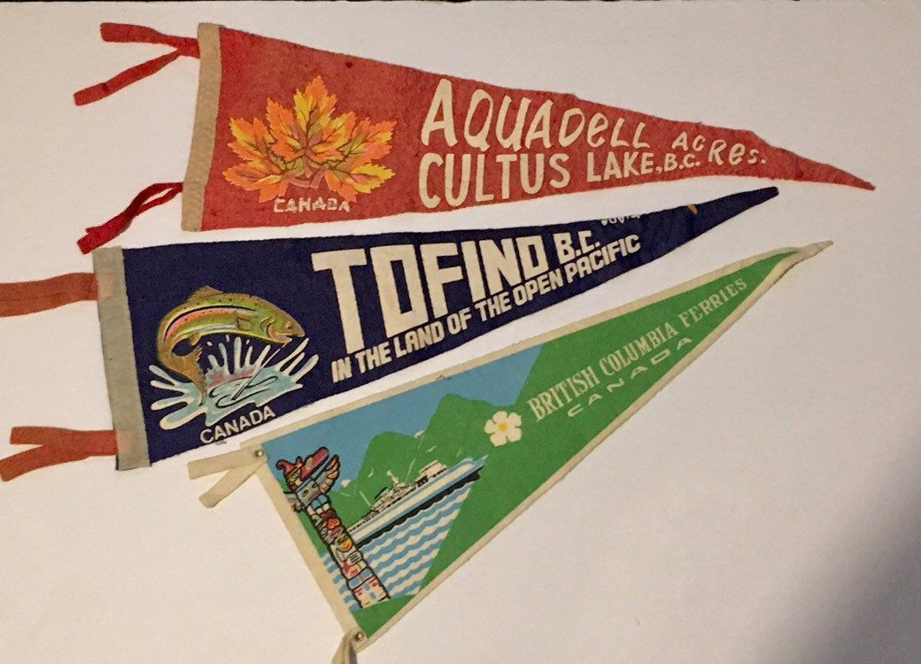 Vintage Felt Souvenir Pennant, Travel Souvenir, State