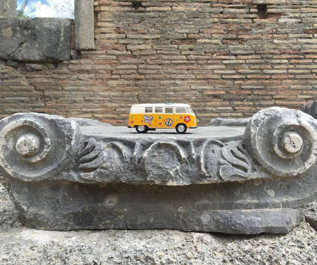 Greece! The yellow van visited the site of the 1st olympics today!