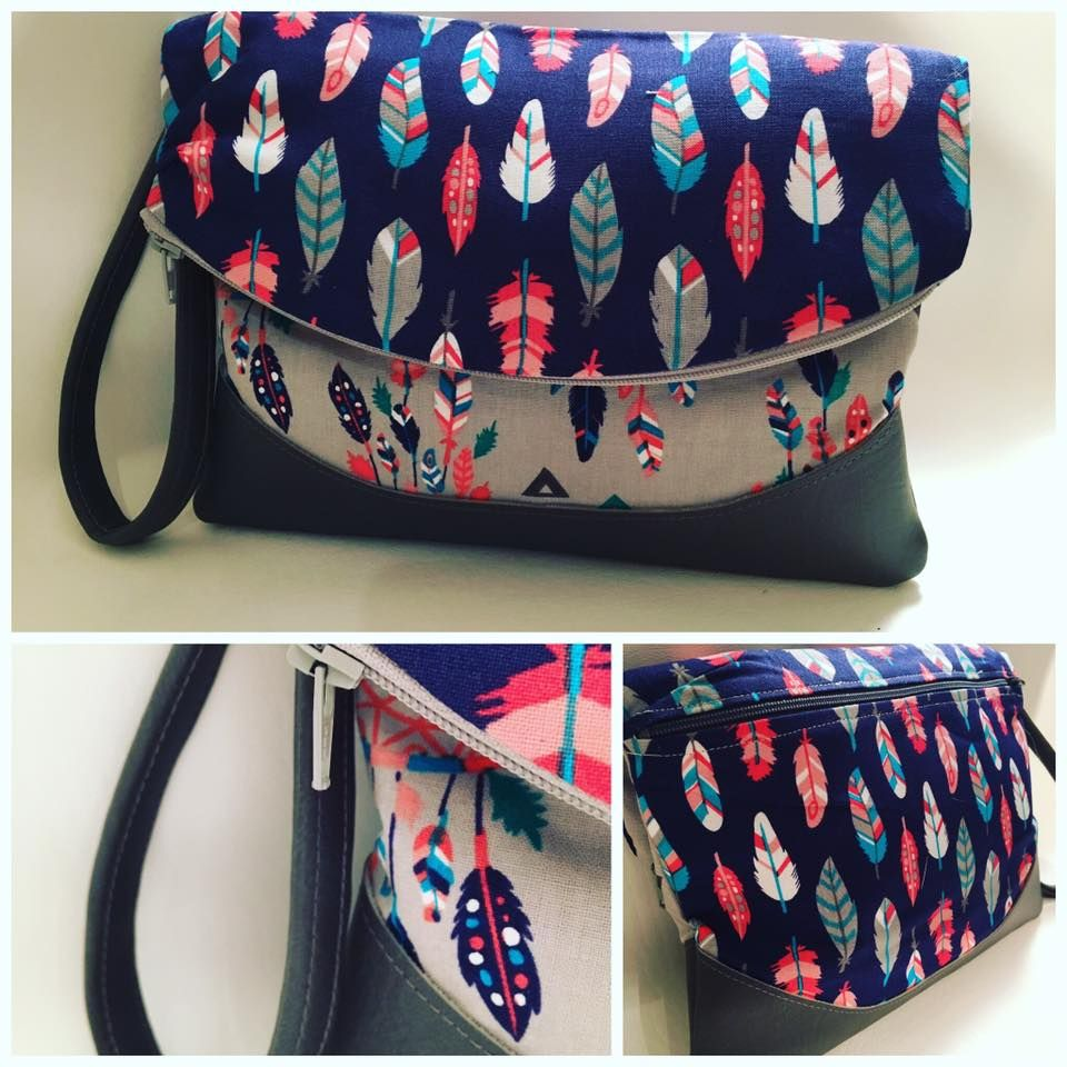 Free foldover clutch purse sewing pattern.  The Heidi bag from Swoon patterns.  Photos by Cindy Fasano-Arsenault