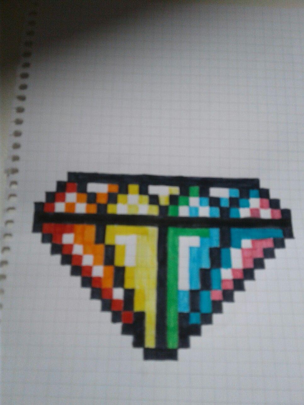 Pixel Art Multicolore Diamant