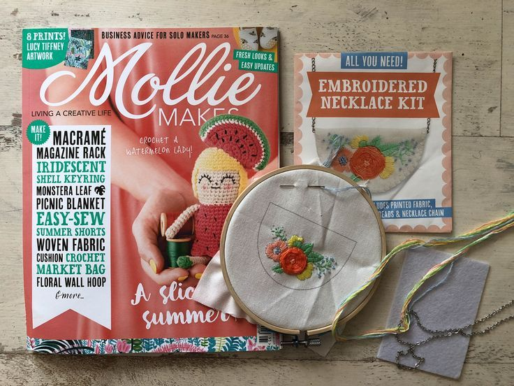 Mollie Makes Embroidered Necklace Kit Mollie makes