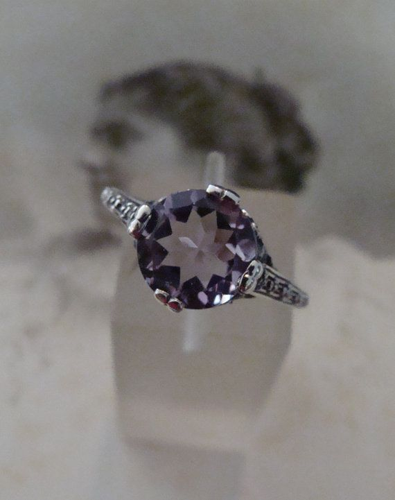 Lovely Sterling Silver Amethyst Solitaire by TreasureTradersOfTN