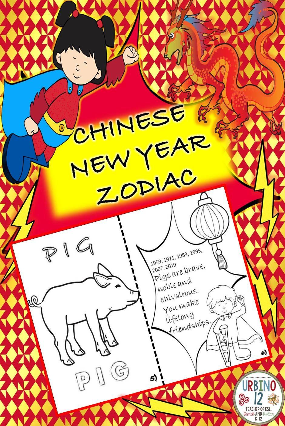 Lunar New Year Zodiac Chinese new year zodiac, Chinese