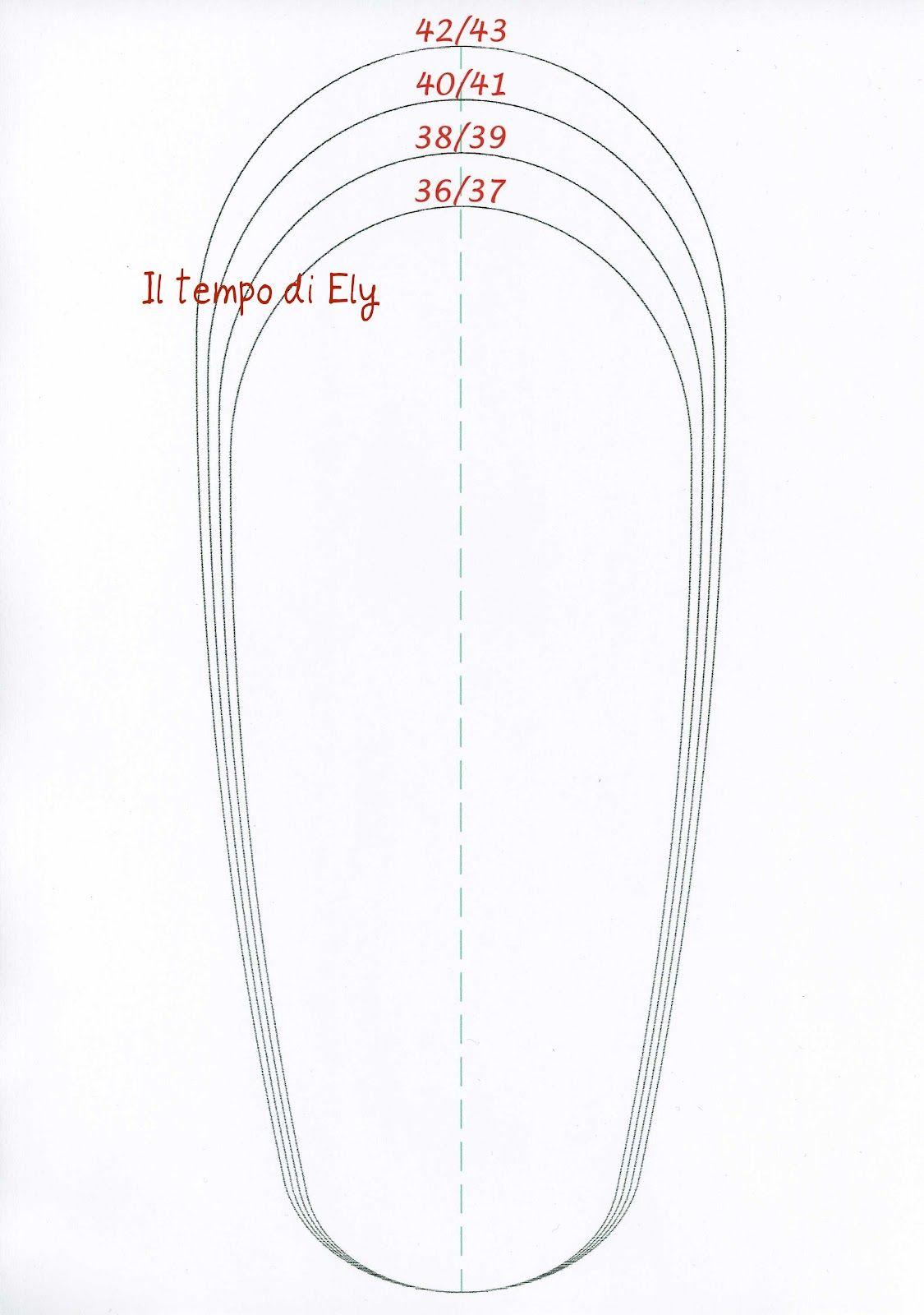 Informazione: Pantofole In Feltro Cartamodello
