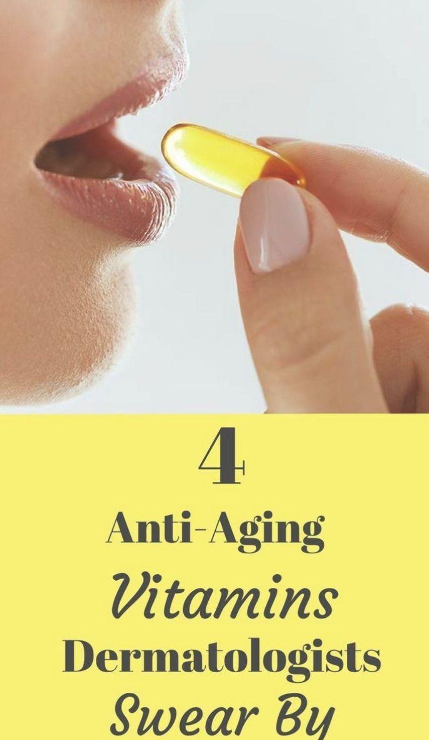 4 Anti-Aging Vitamins Dermatologists Swear By. #beauty #style #fashion #hair #makeup #skincare #nail...