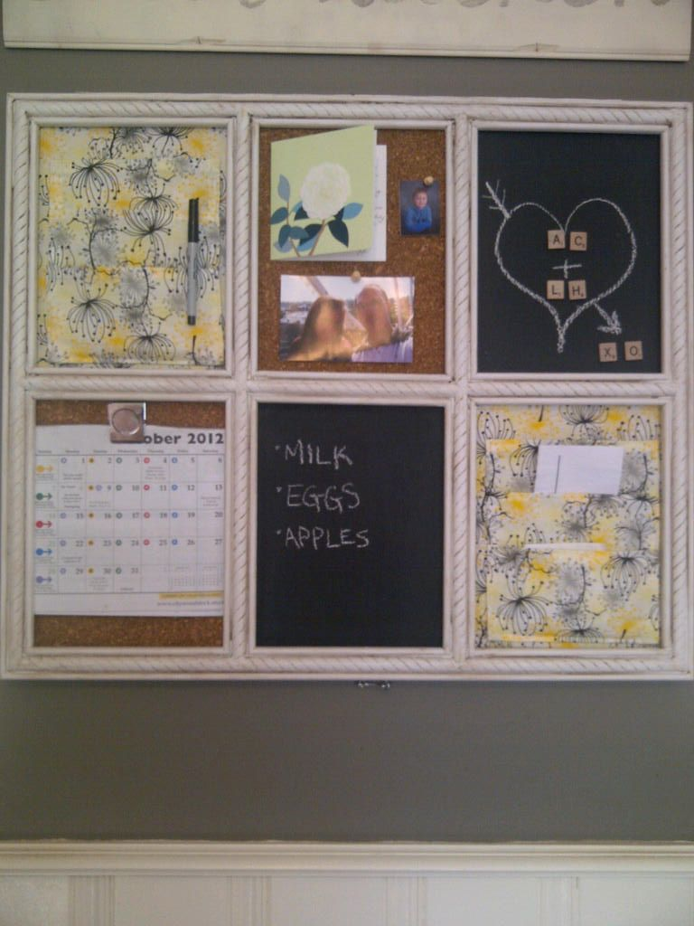 Kitchen Message Board My Yellow Brick Home Blog Our Kitchen Message Board Crafts