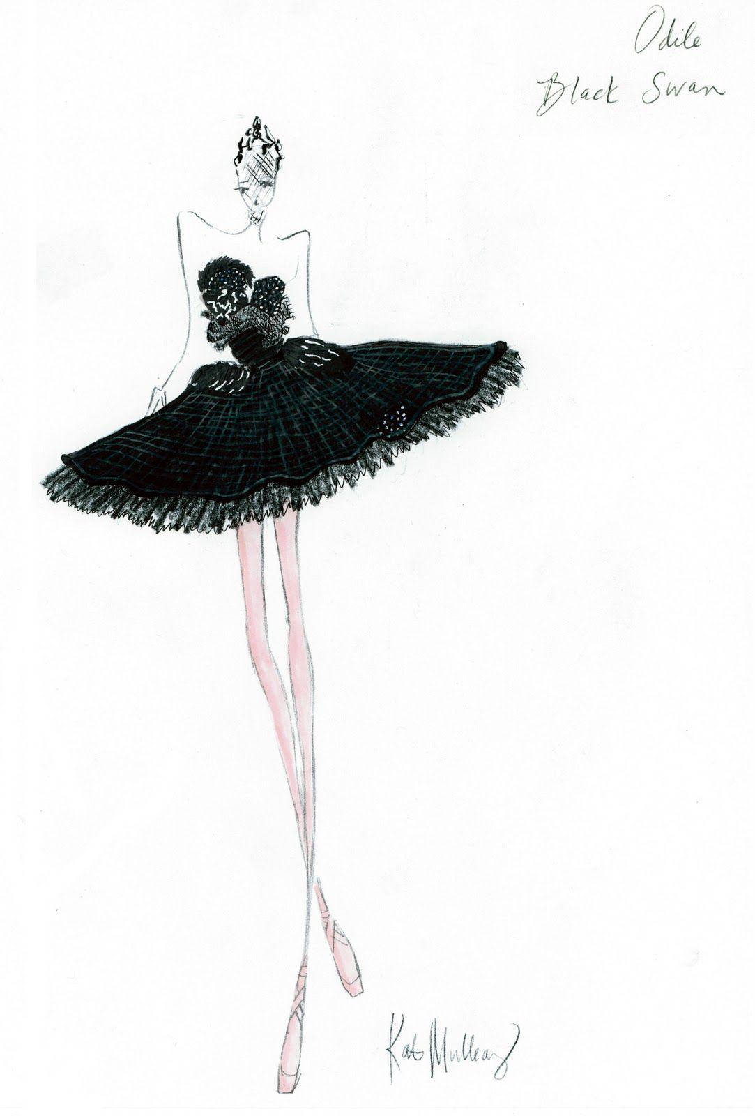 The Fashion Illustrator: Black Swan Costume Sketches by Rodarte