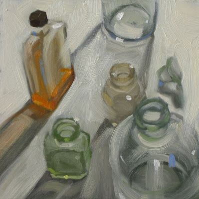 """Claudia Hammer, a Painting a Day: Standing idly around 6""""x6"""" oil"""