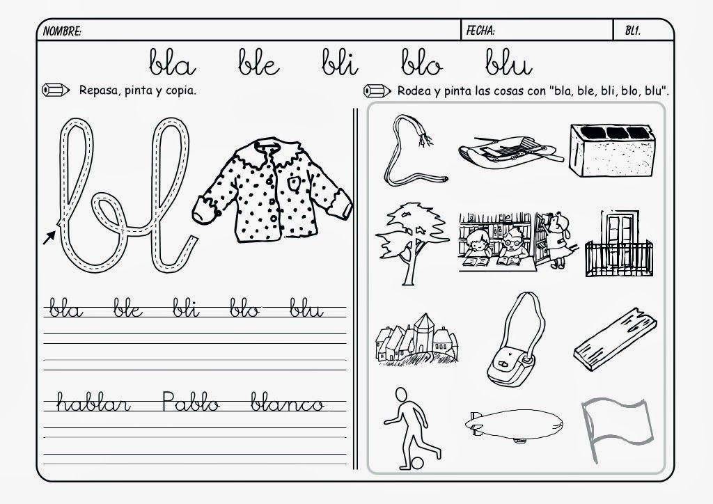 Dibujos Con La Trabada Br: Maestra De Primaria: Fichas De Lectoescritura. Grupos
