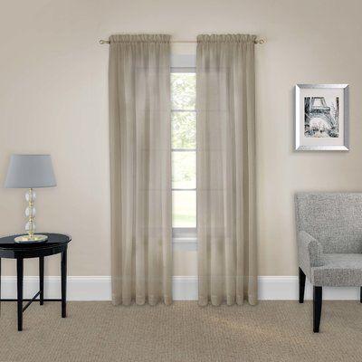 Wayfair BasicsTM Basics Solid Sheer Rod Pocket Curtain Panels Size 118 W