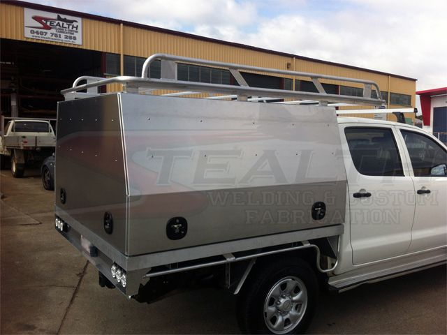 Aluminium Canopy with Roof Racks & Doors | Custom Canopies ...
