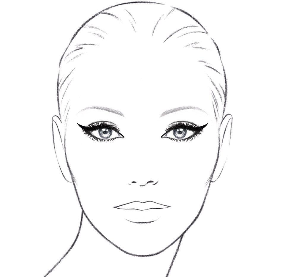 Chanel cat eye tutorial online boutique also face chart blank google zoeken charts pinterest rh