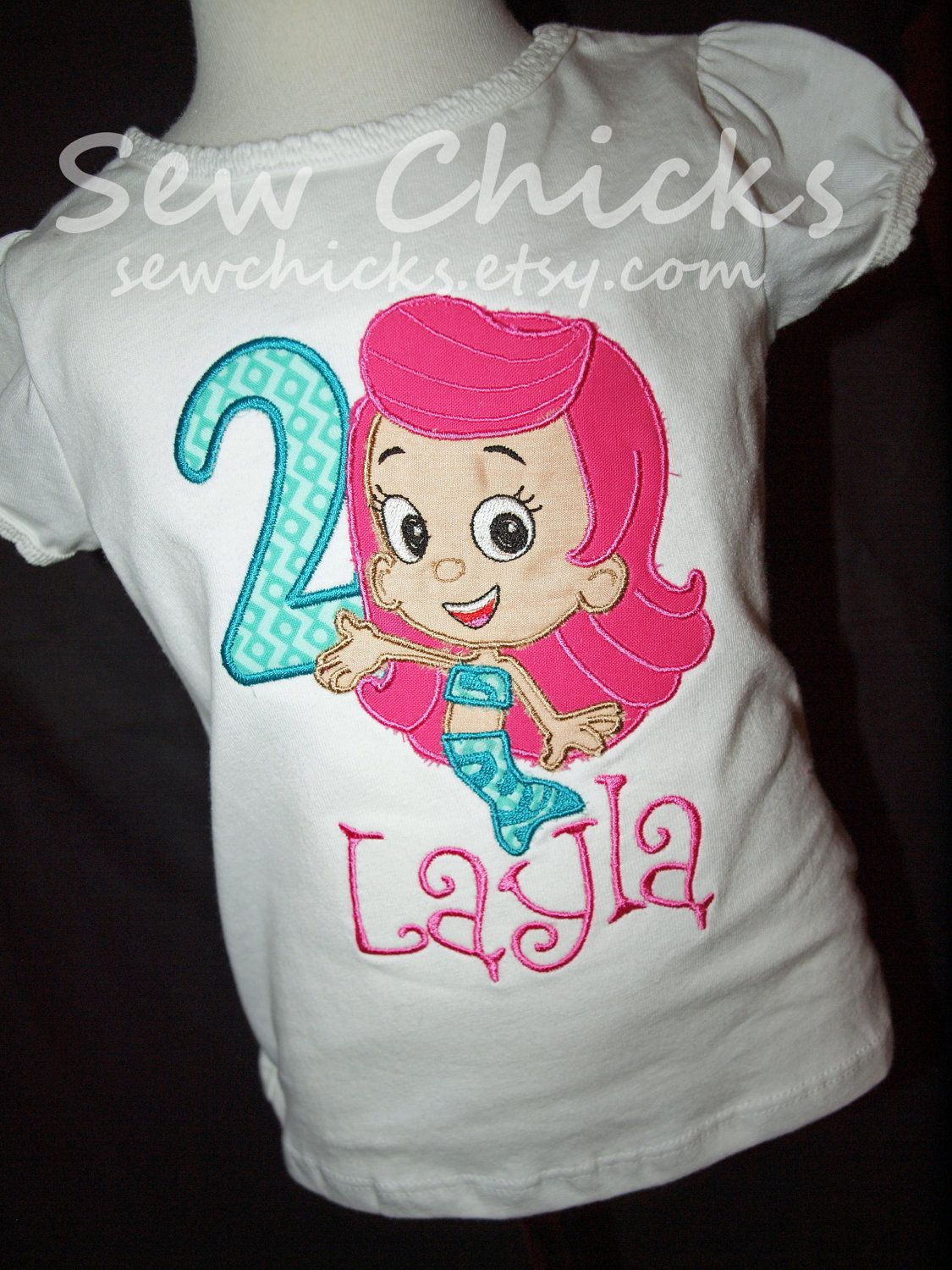 Bubble Guppies Girls Shirt for her birthday party | Lily\'s 2nd ...