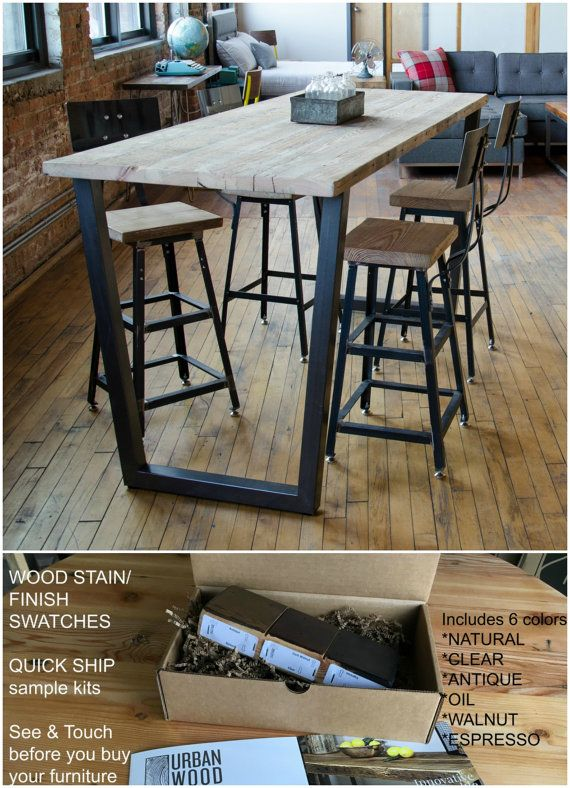Urban Wood Goods Counter Height Table Buy A Finishstain Sample Kit - 4 person counter height table