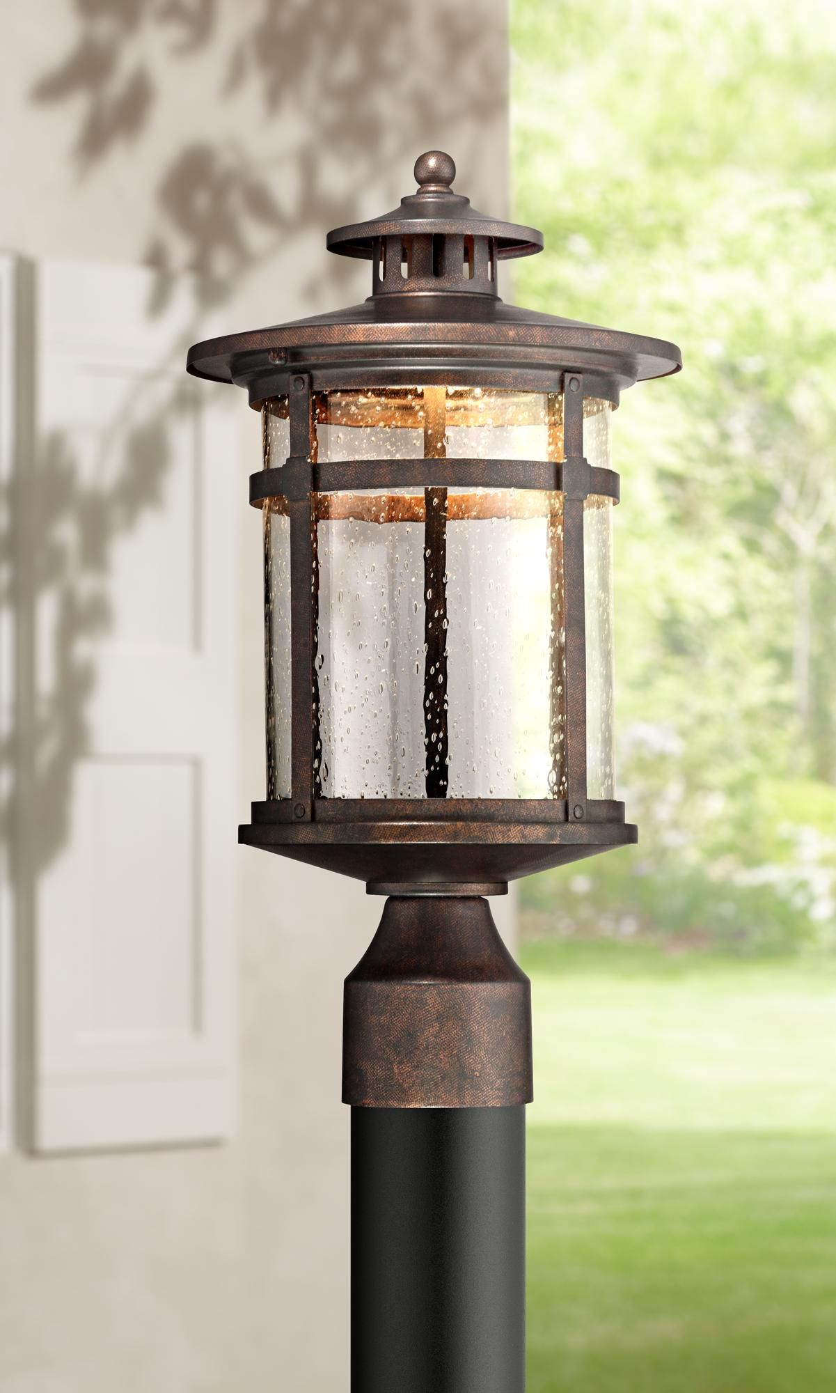 Callaway 15 1 2 High Rustic Bronze Led Outdoor Post Light