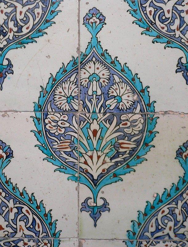 Iznik tile topkapi palace istanbul turkey tiles - Mosaik fliesen turkis ...