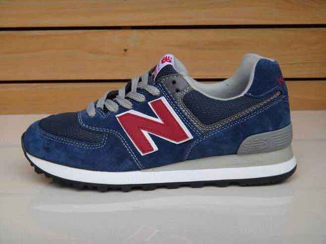 Deal Mens New Balance American Giant Ink Blue Red ML574NIN Sneakers