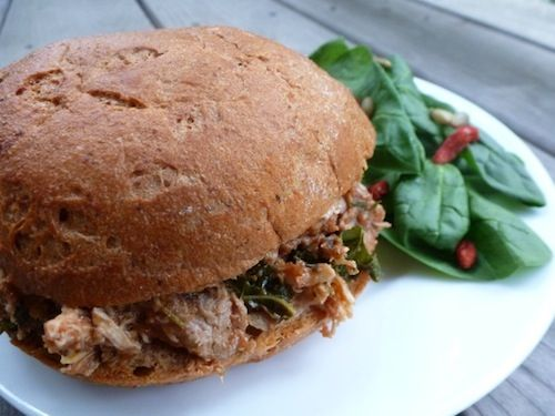 At the Balanced Platter – Slow Cooker Pulled Italian Chicken and Kale