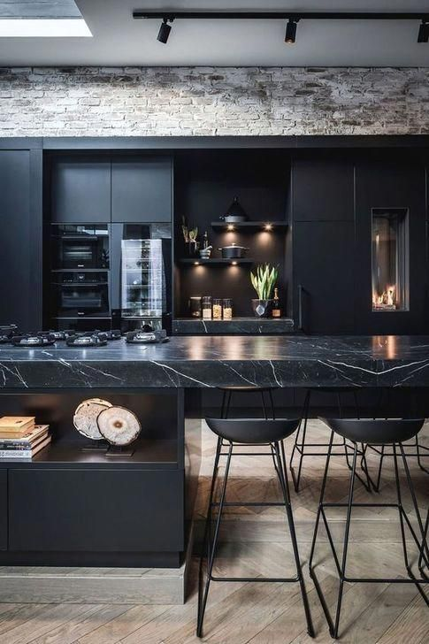 47 elegant black kitchen design ideas you have to know blackkitchen in 2020 black kitchens on kitchen decor black countertop id=30593