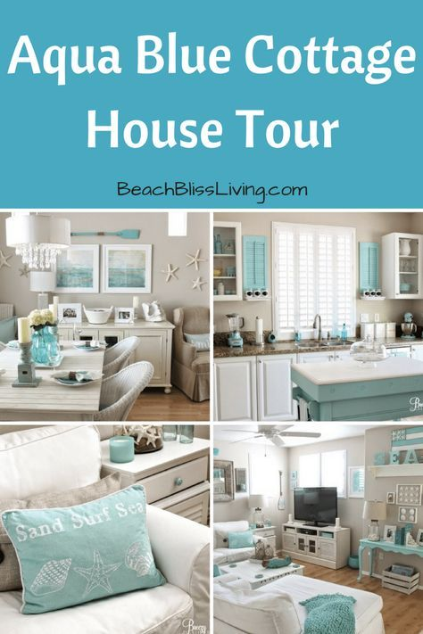 Easy Breezy Living in an Aqua Blue Cottage - Beach Bliss Living