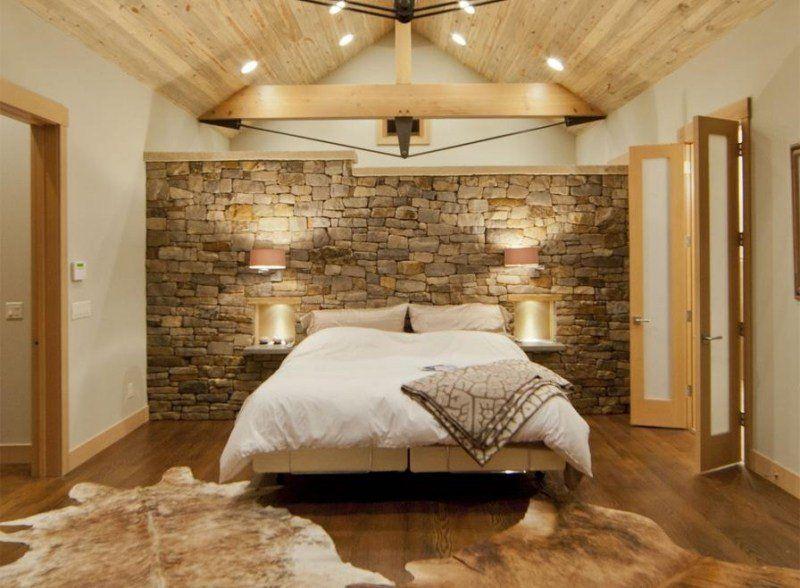 des pierres dans la chambre coucher voici 20 id es d co dans la chambre le chambre et. Black Bedroom Furniture Sets. Home Design Ideas